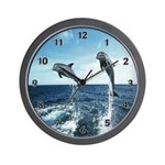 Dolphin Diving Wall Clock