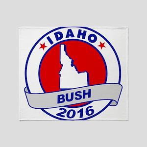 Idaho Jeb Bush 2016 Throw Blanket