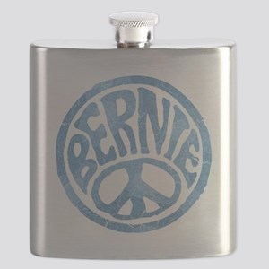 60s Peace Bernie Flask