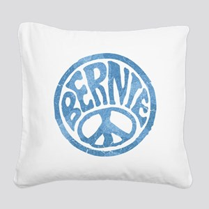 60s Peace Bernie Square Canvas Pillow