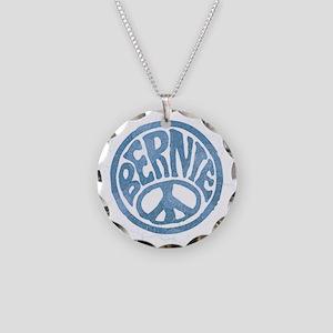 60s Peace Bernie Necklace Circle Charm