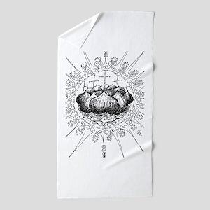color me * lotus mandala Beach Towel
