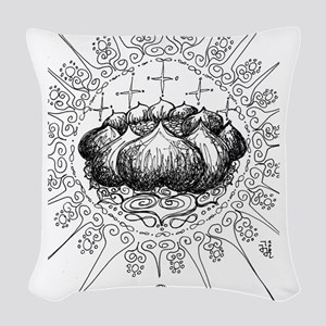 color me * lotus mandala Woven Throw Pillow