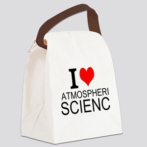 I Love Atmospheric Science Canvas Lunch Bag