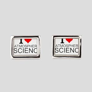 I Love Atmospheric Science Rectangular Cufflinks