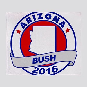 Arizona Jeb Bush 2016 Throw Blanket