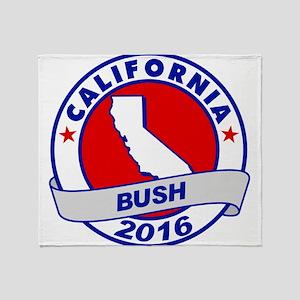 California Jeb Bush 2016 Throw Blanket