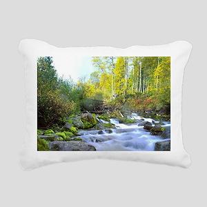 Aspen Waterfall Rectangular Canvas Pillow