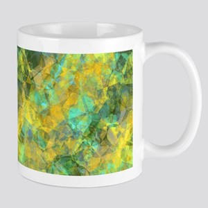 Gold Crumpled Texture Marble Mugs