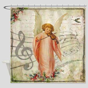 Vintage Christmas Angel Shower Curtain