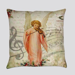 Vintage Christmas Angel Everyday Pillow