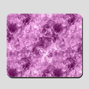 Girly Purple Pink Crumpled Abstract Patt Mousepad