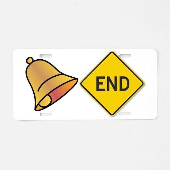 bellend bell end sign bells Aluminum License Plate