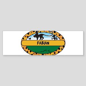 FABIAN - safari Bumper Sticker