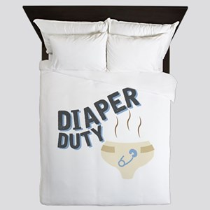 Diaper Duty Queen Duvet