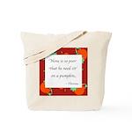 Thoreau's Pumpkin Tote Bag