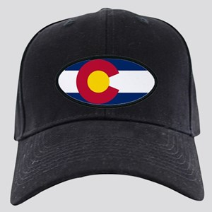 Colorado state flag Authentic in HD Black Cap