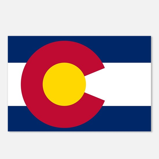 Colorado state flag Authe Postcards (Package of 8)