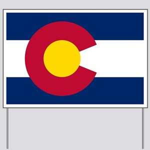 Colorado state flag Authentic in HD Yard Sign