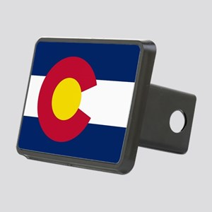 Colorado state flag Authen Rectangular Hitch Cover