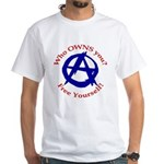 Anarchy-Free Yourself White T-Shirt