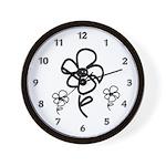 Flower Doodles Wall Clock