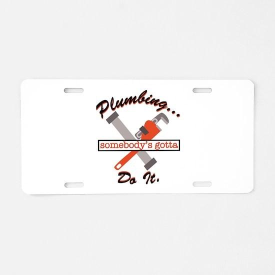 Plumbing Do It Aluminum License Plate