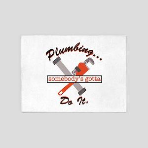 Plumbing Do It 5'x7'Area Rug