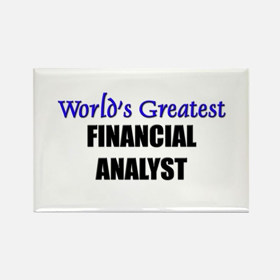 Worlds Greatest FINANCIAL ANALYST Rectangle Magnet