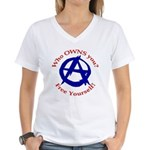 Anarchy-Free Yourself Women's V-Neck T-Shirt