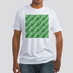 Green Abstract Crumpled Marble Pattern T-Shirt