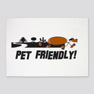 Pet Friendly Dog Landscape 5'x7'Area Rug
