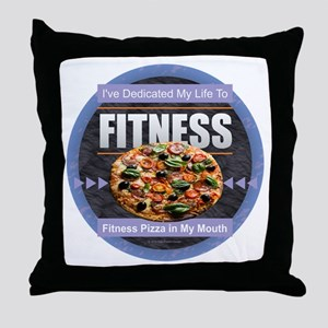 Fitness - Pizza Throw Pillow