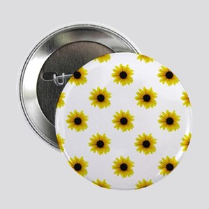 "Pretty Yellow Sunflower Pattern 2.25"" Button"