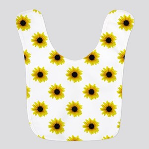 Pretty Yellow Sunflower Pattern Bib