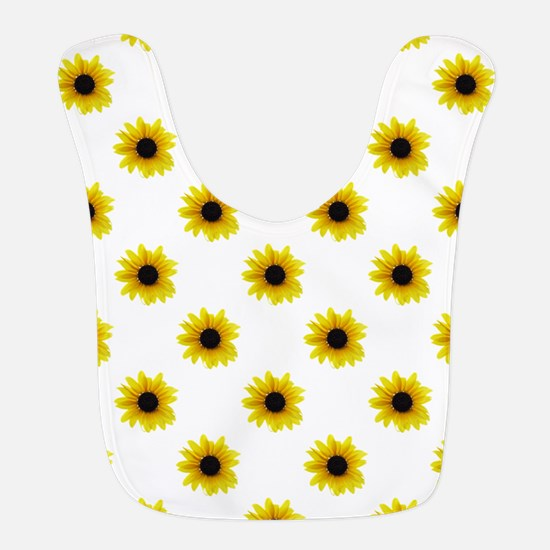 Pretty Yellow Sunflower Pattern Bib