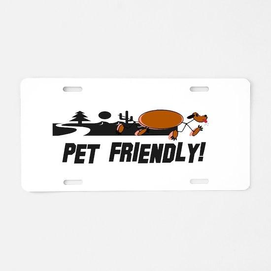 Pet Friendly Dog Landscape Aluminum License Plate
