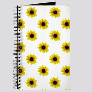 Pretty Yellow Sunflower Pattern Journal