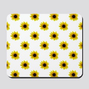 Pretty Yellow Sunflower Pattern Mousepad