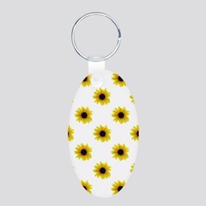 Pretty Yellow Sunflower Pa Keychains