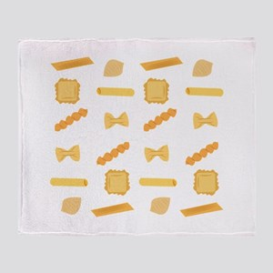 Noodle Shapes Throw Blanket
