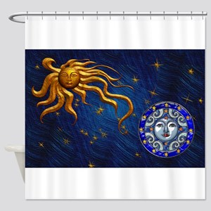 Harvest Moons Sun & Moon Shower Curtain