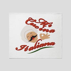 Mi Cucina Italiana Throw Blanket
