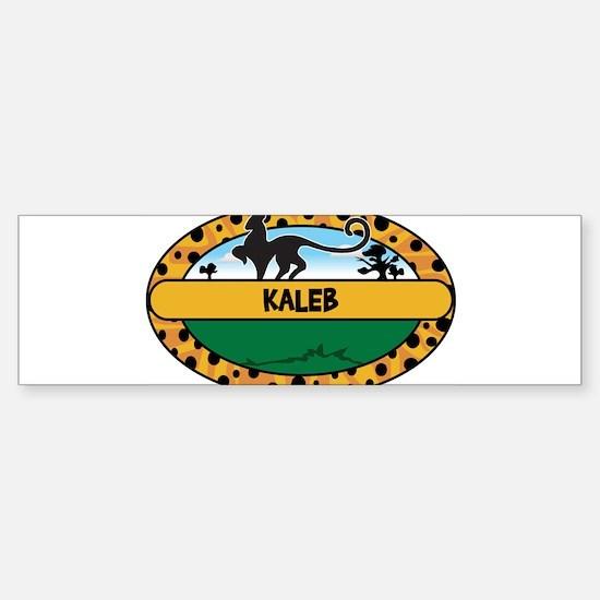 KALEB - safari Bumper Bumper Bumper Sticker