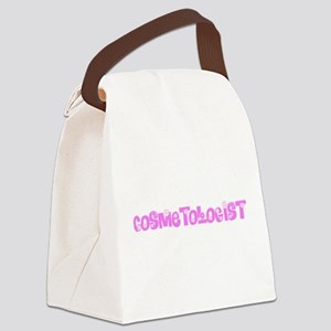 Cosmetologist Pink Flower Design Canvas Lunch Bag
