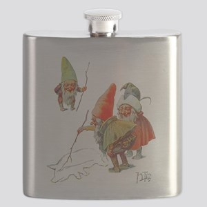Gnomes Search for Pig in the Snow Flask