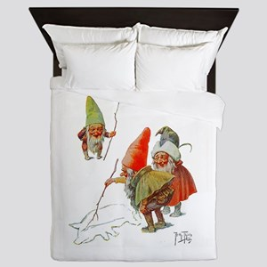 Gnomes Search for Pig in the Snow Queen Duvet