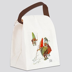 Gnomes Search for Pig in the Snow Canvas Lunch Bag