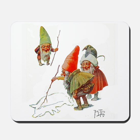 Gnomes Search for Pig in the Snow Mousepad