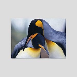 Penguins 5'x7'Area Rug